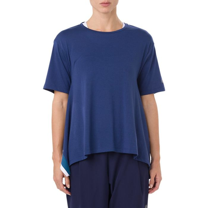Remera-Asics-Short-Sleeve---Femenino---Azul